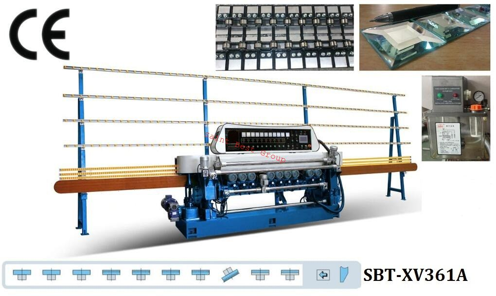 10 Motors Straight-Line Glass Beveling Machine,Straight Line Glass Beveling Machine,Glass Beveling Machine