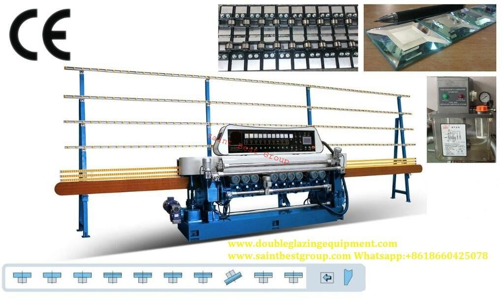 SBT-XV361 10 Spindles Straight-line Glass Beveling Machine,Straight-line Glass Beveling Machine, Glass Beveling Machine