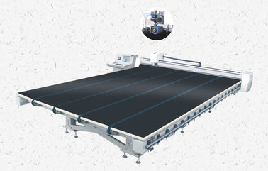 China Automatic CNC Glass Cutting Table with Membrane Removal distributor